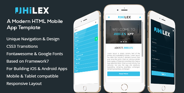 Jhilex – Mobile & App HTML Template