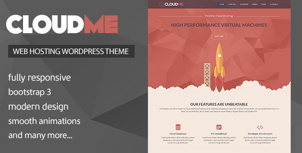 Cloudme Host – WordPress Hosting Theme + WHMCS