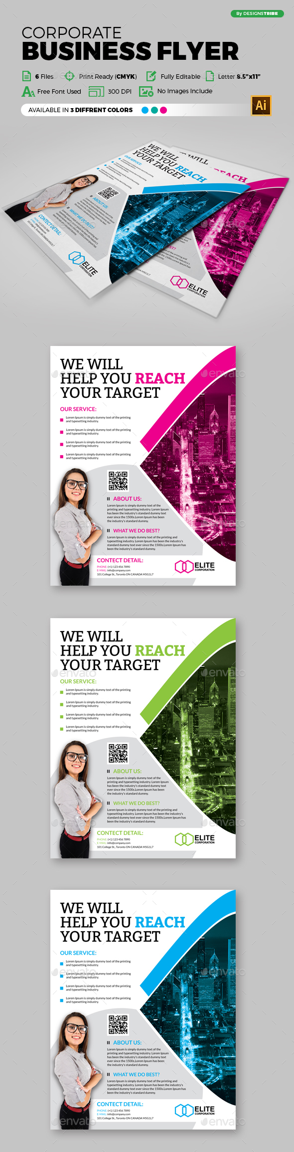 Multipurpose Business Flyer 100 - Corporate Flyers
