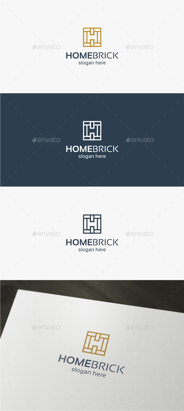 Home Brick - Logo Template - Abstract Logo Templates