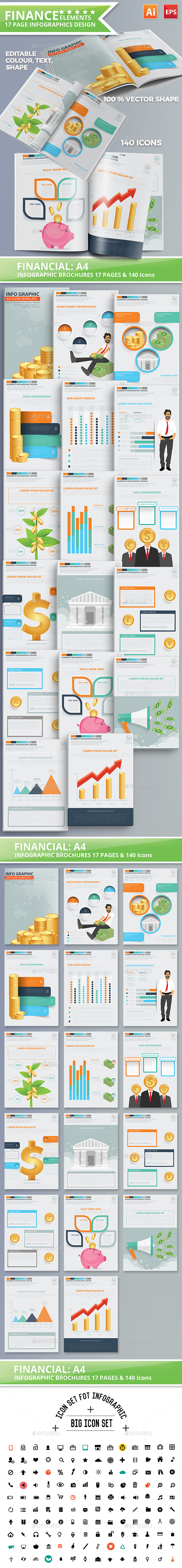 Finance Infographics 17 Pages Design - Infographics