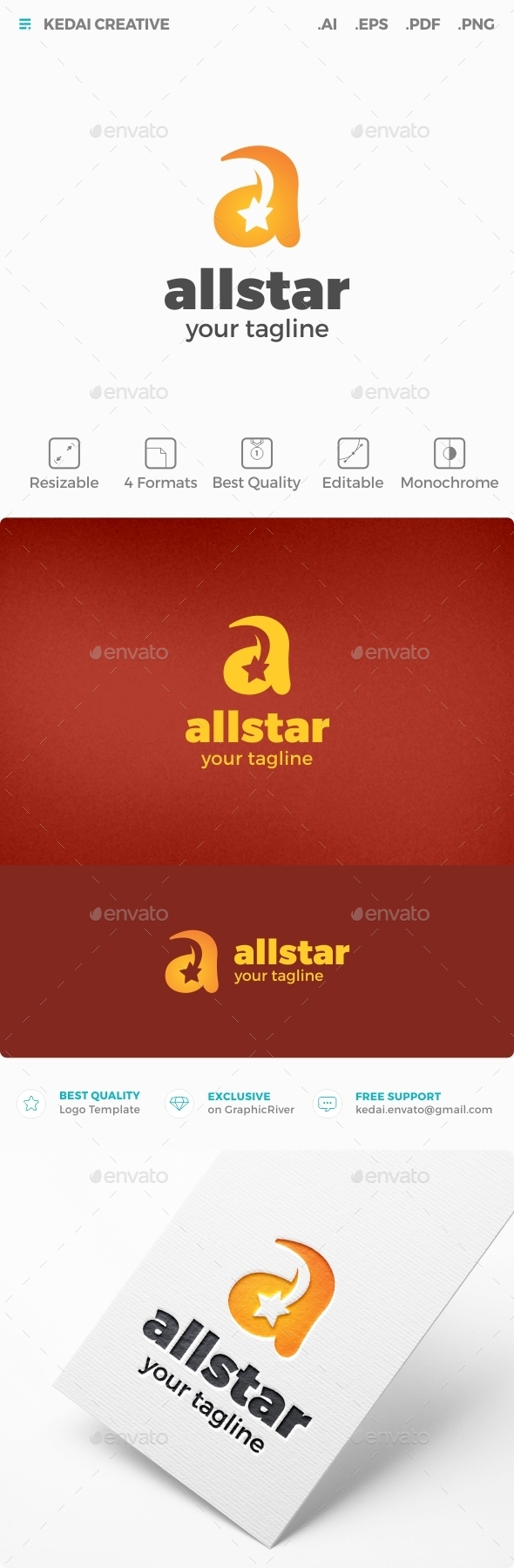 All Star - Letters Logo Templates
