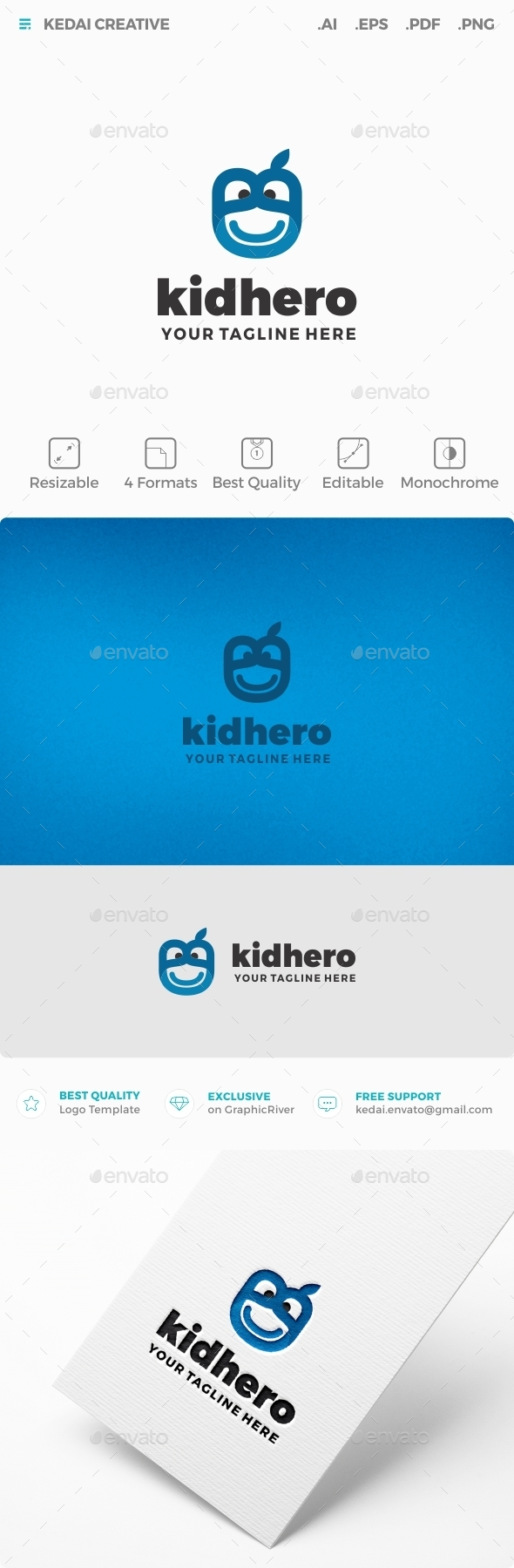 Kid Hero - Humans Logo Templates