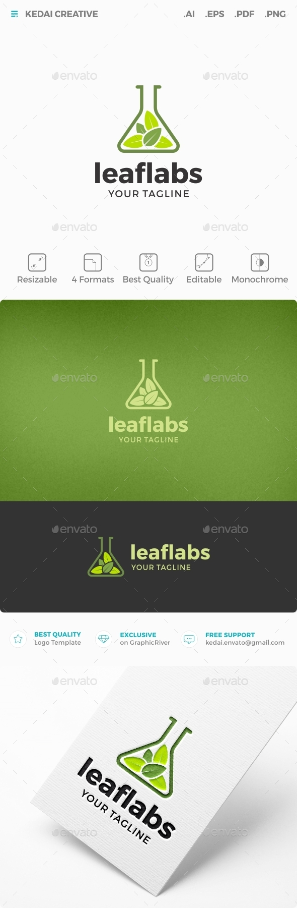 Leaf Labs - Nature Logo Templates