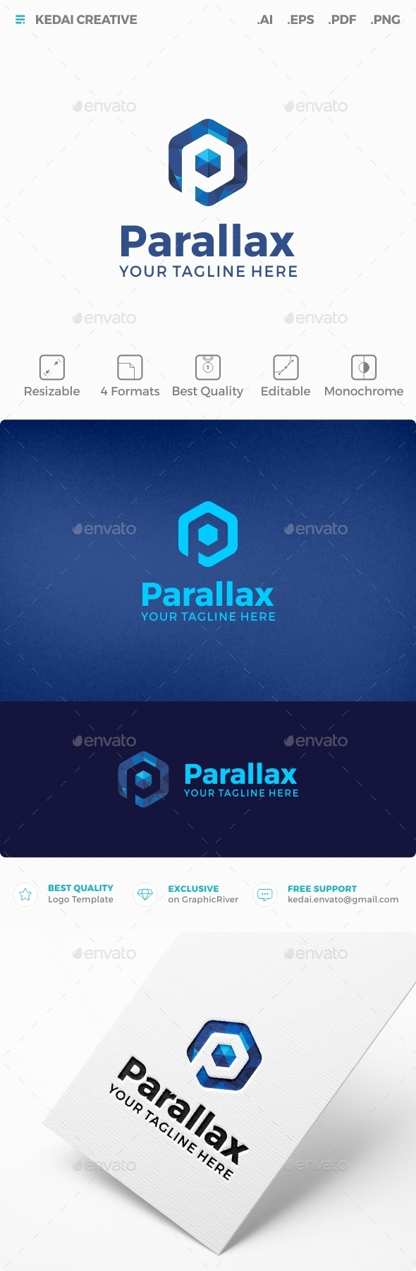 Parallax - Letters Logo Templates
