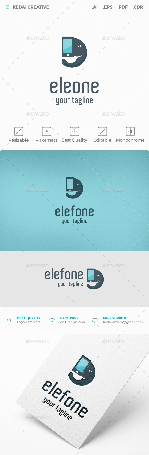 Elefone - Symbols Logo Templates