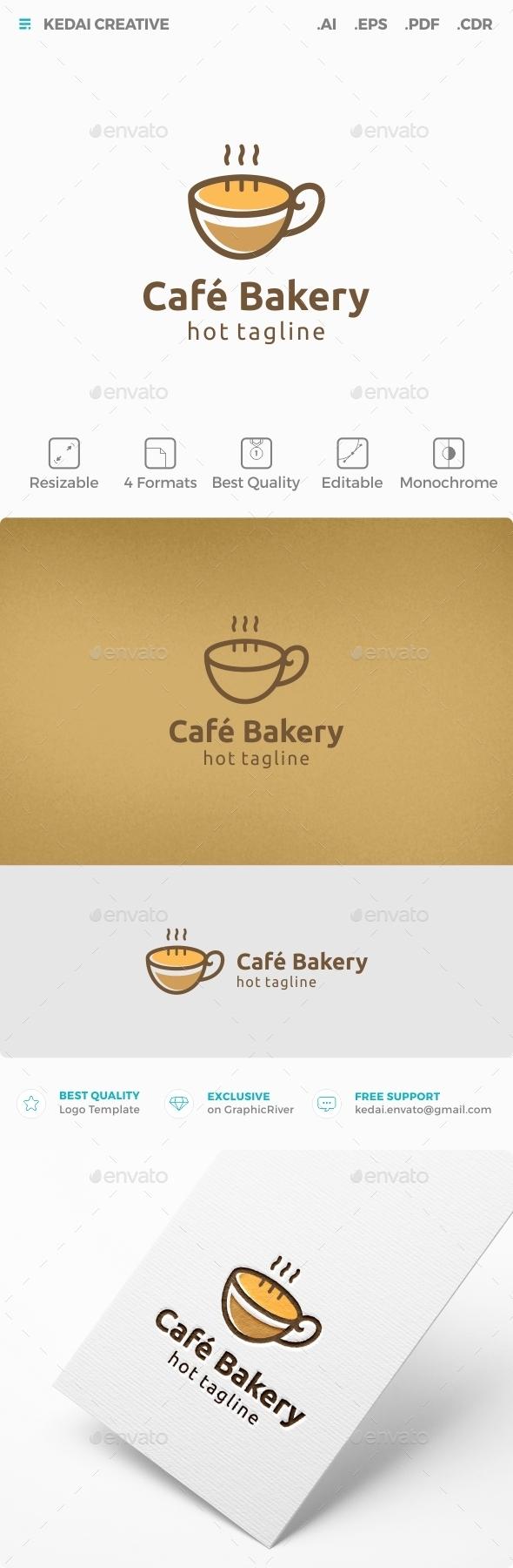 Cafe Bakery - Food Logo Templates