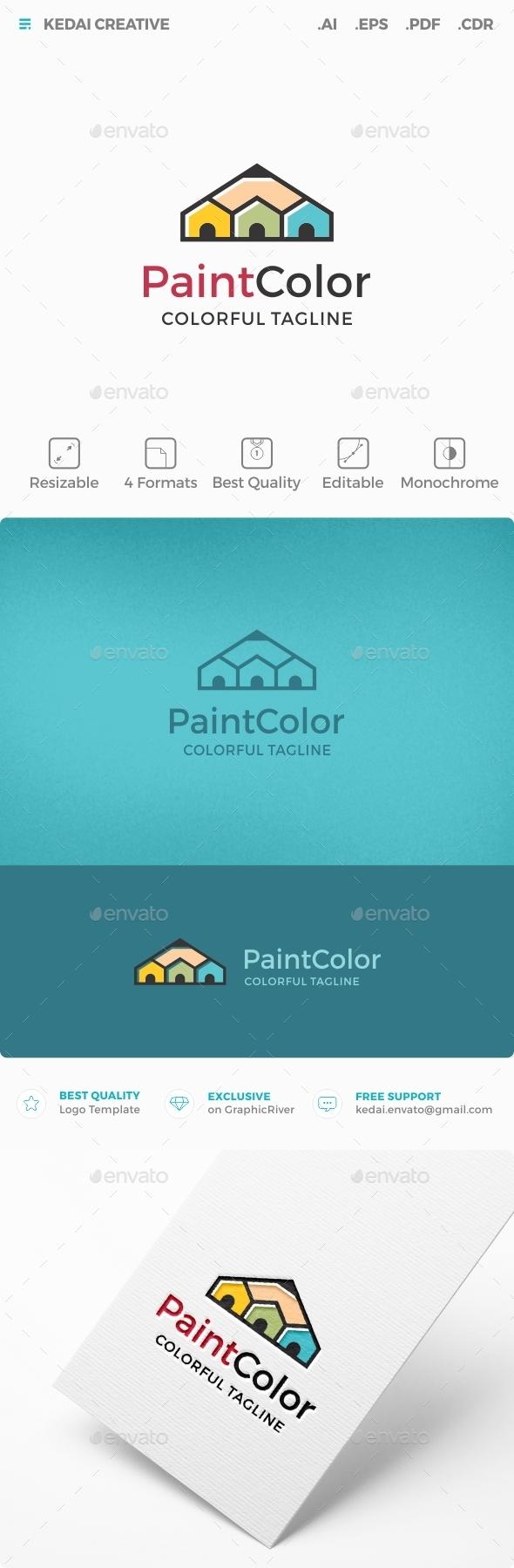 Paint Color - Buildings Logo Templates