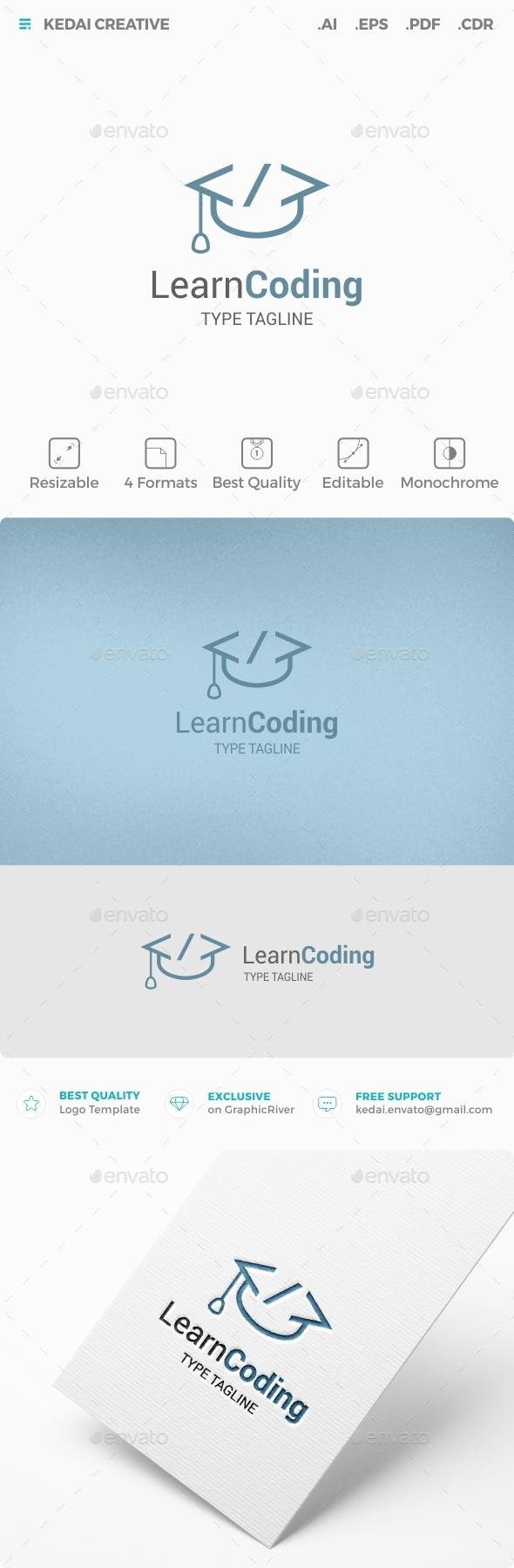 Learn Coding - Symbols Logo Templates