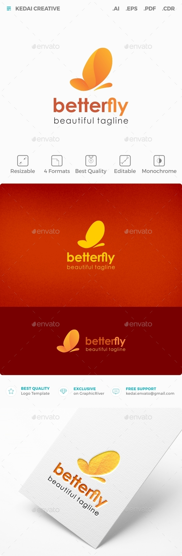 Betterfly  - Animals Logo Templates