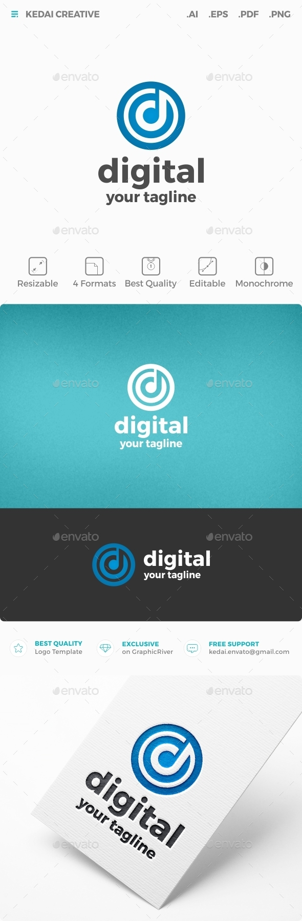 Digital - Letters Logo Templates