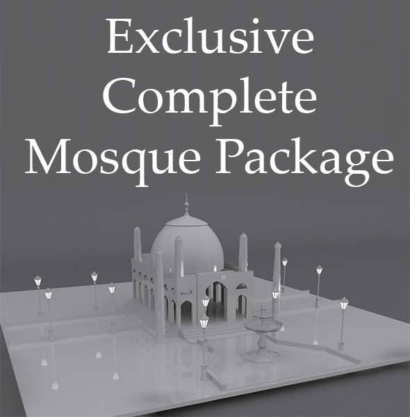 Complete Mosque Model - 3DOcean Item for Sale