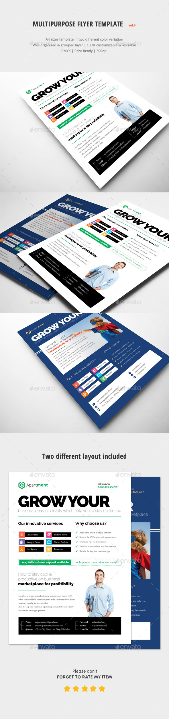 Multipurpose Flyer Ads Vol.4 - Corporate Flyers