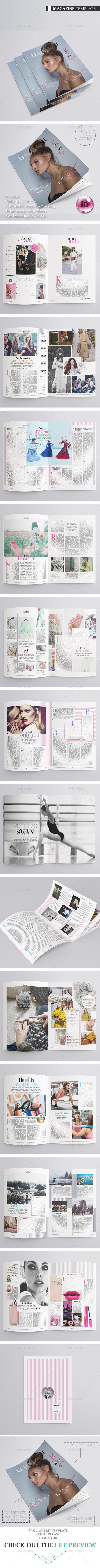Fashion Magazine 26 Pages - Magazines Print Templates