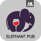 Elephant Pub Logo - GraphicRiver Item for Sale