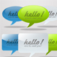 Web 2.0 Message Balloons - GraphicRiver Item for Sale