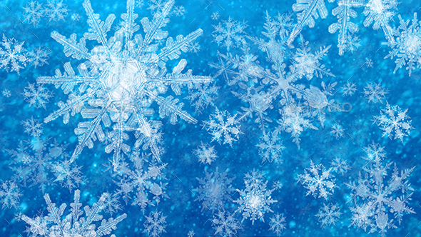 Winter Snowflakes backgrounds - Backgrounds Graphics