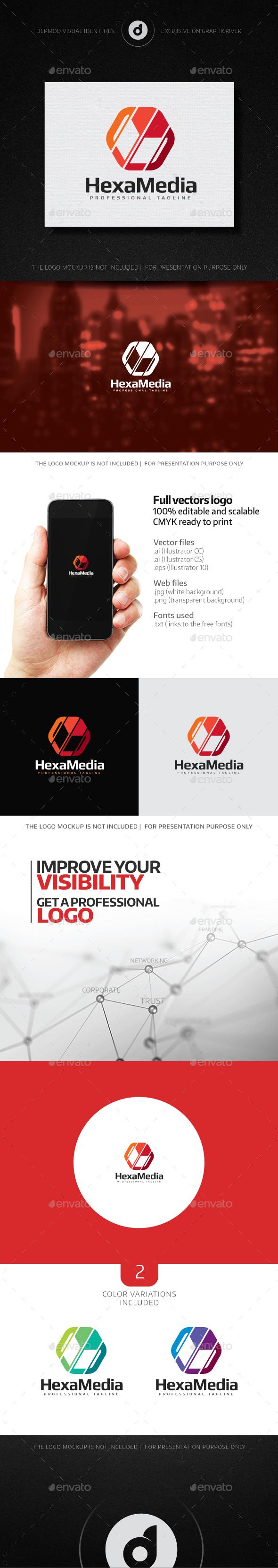 HexaMedia Logo - Abstract Logo Templates