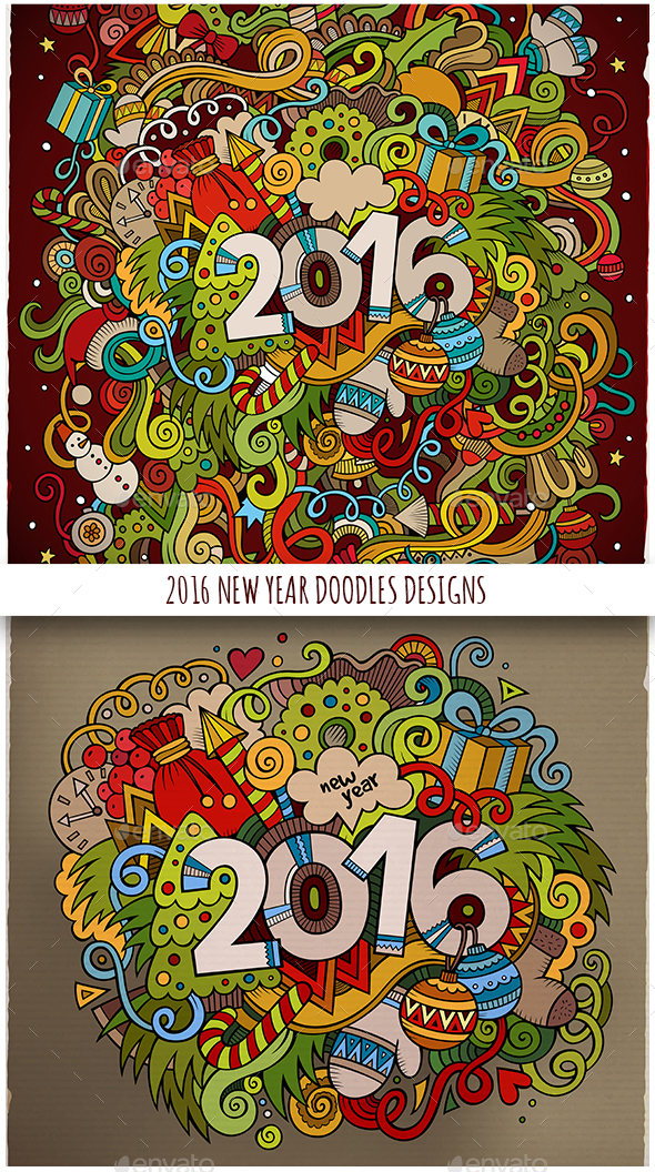 2016 Doodles Designs - New Year Seasons/Holidays
