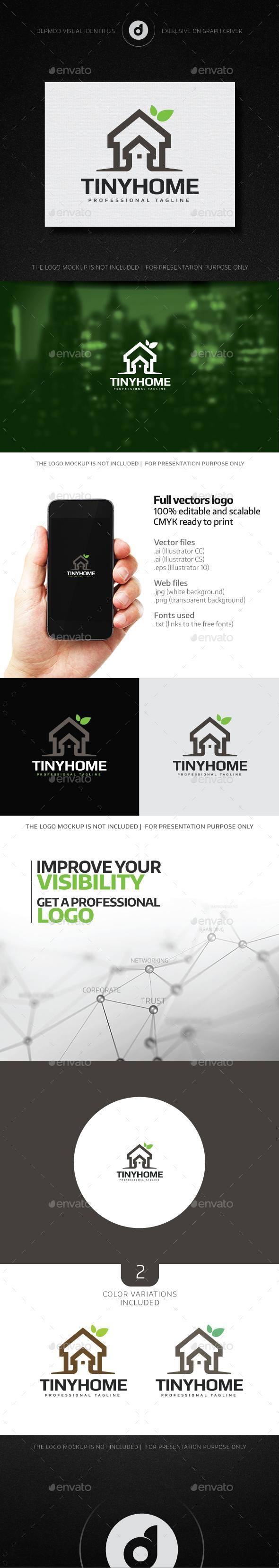 Tiny Home Logo - Buildings Logo Templates