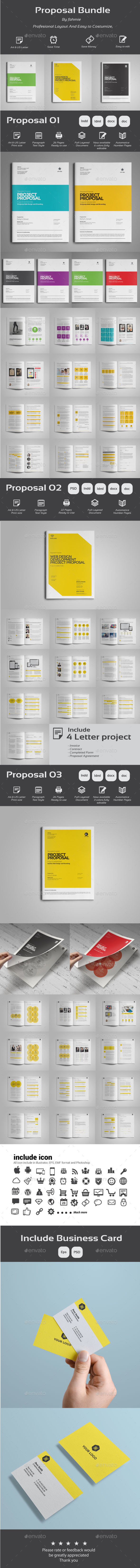 Proposal Bundle - Proposals & Invoices Stationery