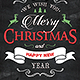 Christmas Chalkboard Greeting Card - GraphicRiver Item for Sale