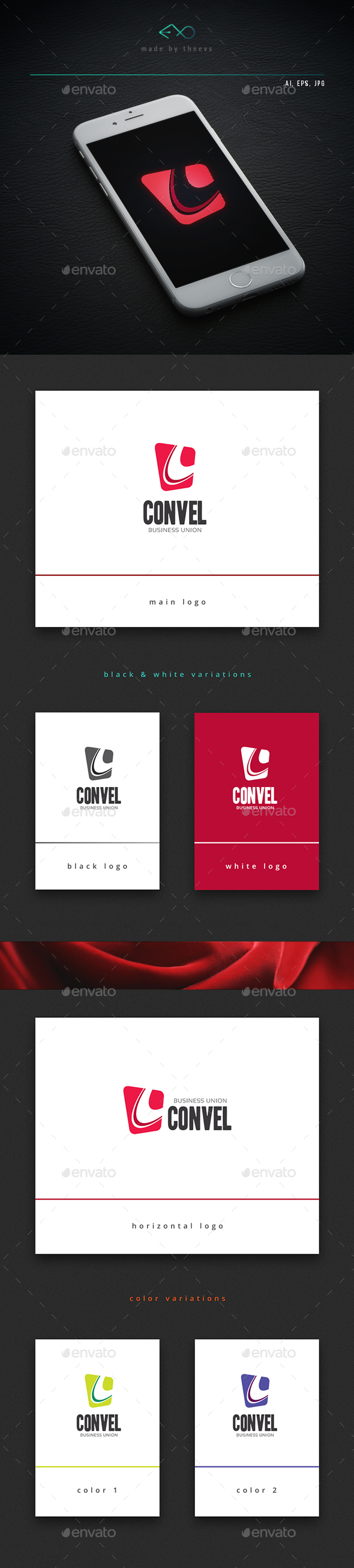 Convel - Letters Logo Templates