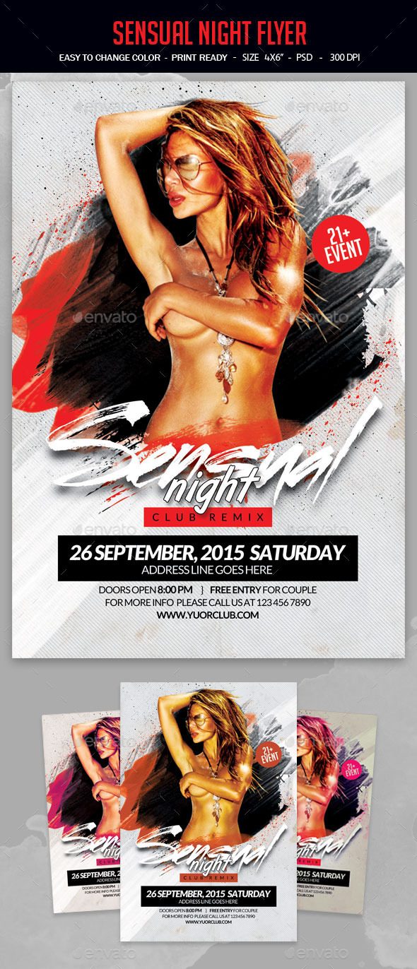 Sensual Night Flyer - Clubs & Parties Events