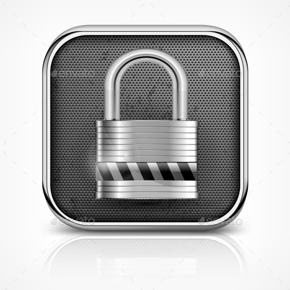Padlock Icon on White - Miscellaneous Vectors