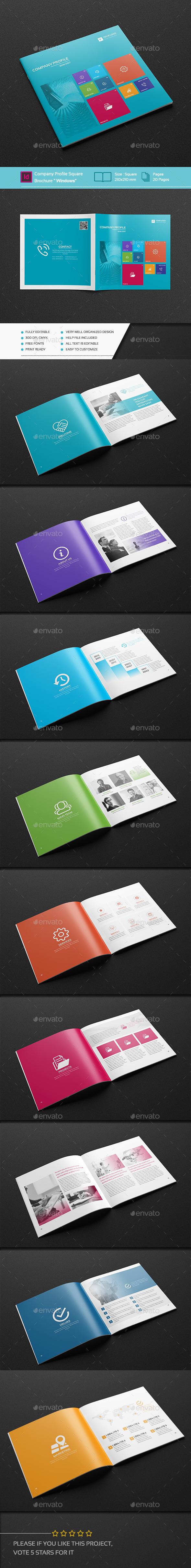 company profile square brochure windows by pro gh graphicriver