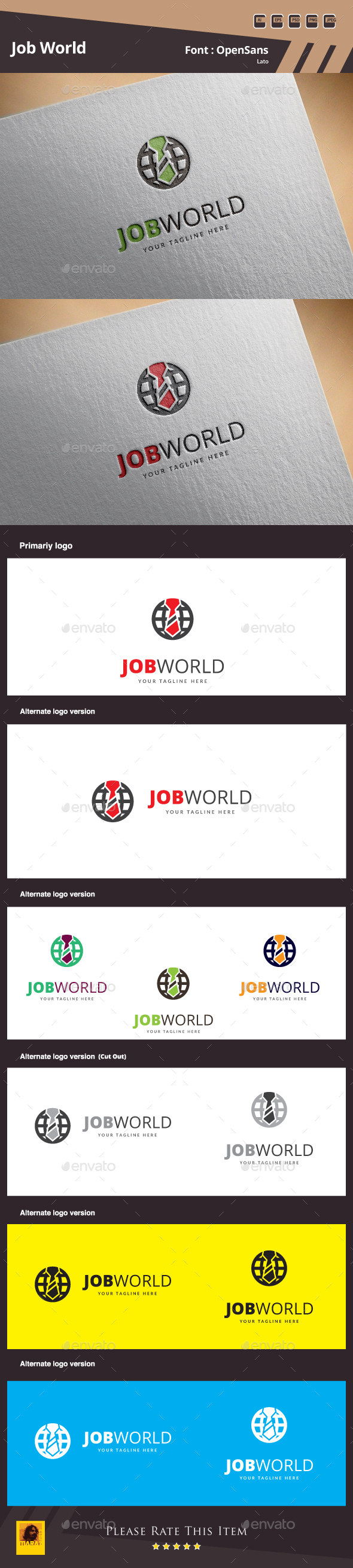 Job World Logo - Symbols Logo Templates