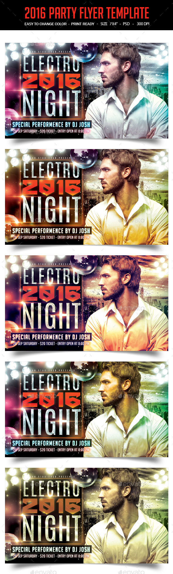 2016 Party Flyer Template - Clubs & Parties Events