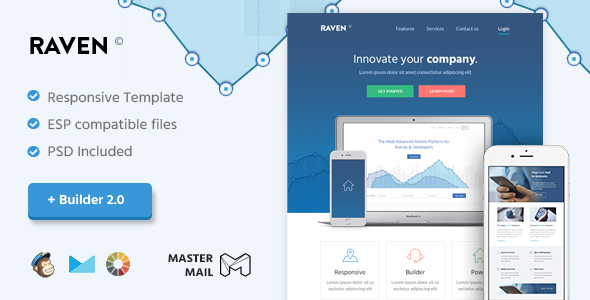Raven – Modern Email Template + Builder 2.0
