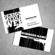 Elegant BW Grunge - Business Card - GraphicRiver Item for Sale