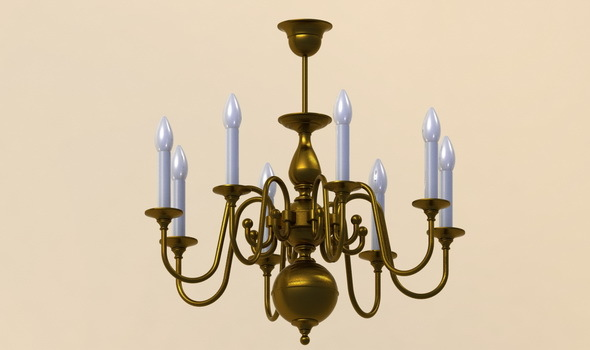 Classic pendant lamp - 3DOcean Item for Sale