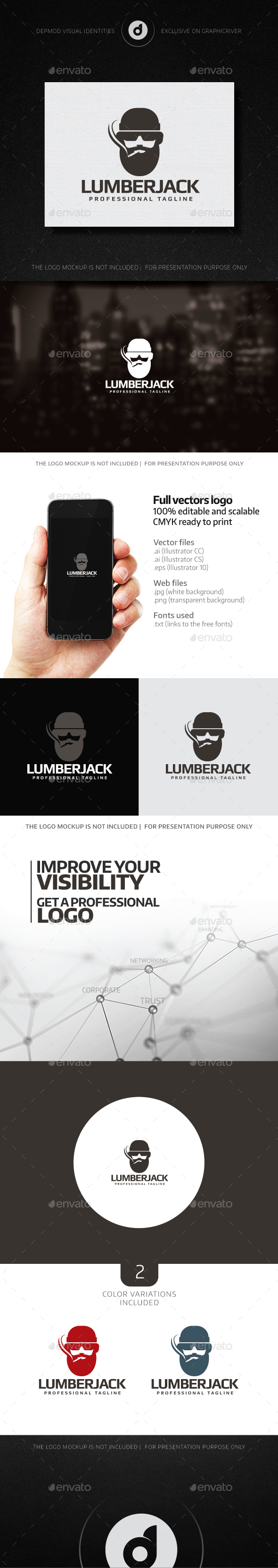 Lumberjack Logo - Humans Logo Templates