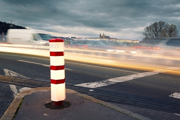 Evening traffic - Stock Photo - Images