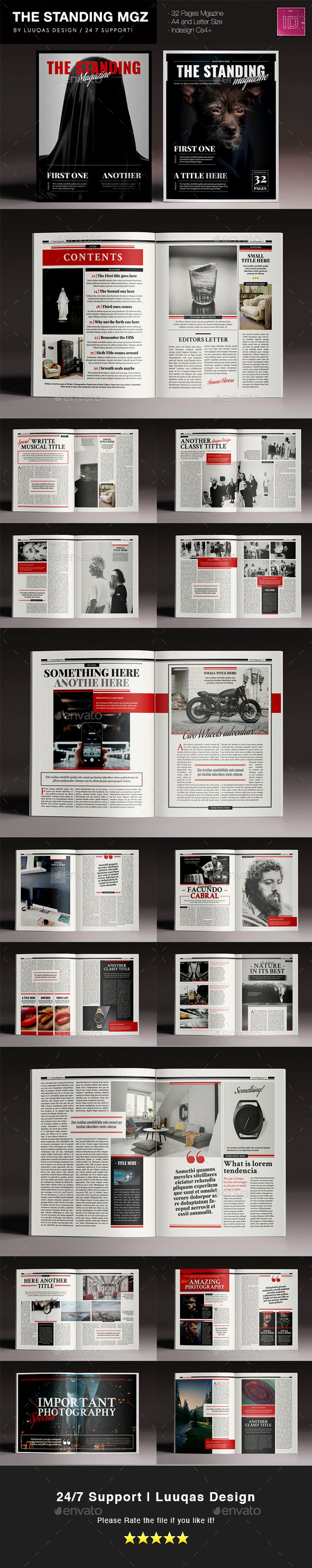 The Standing Magazine - Magazines Print Templates