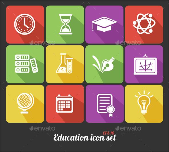 Science Education Icons Set - Miscellaneous Conceptual