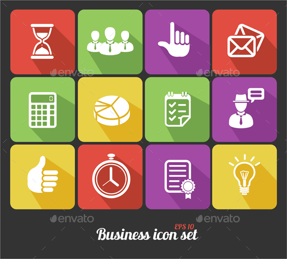 Office and Business Icons Set - Concepts Business