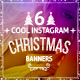 6 Cool Instagram Christmas Banners - GraphicRiver Item for Sale