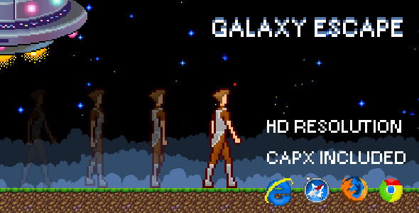 GalaxyEscape - HTML5 Game (CAPX) - CodeCanyon Item for Sale