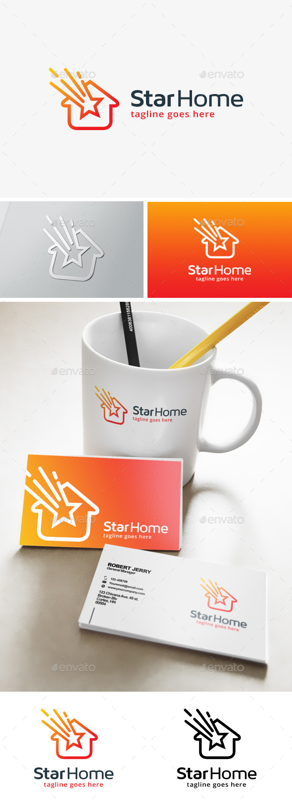 Star House Logo - Buildings Logo Templates