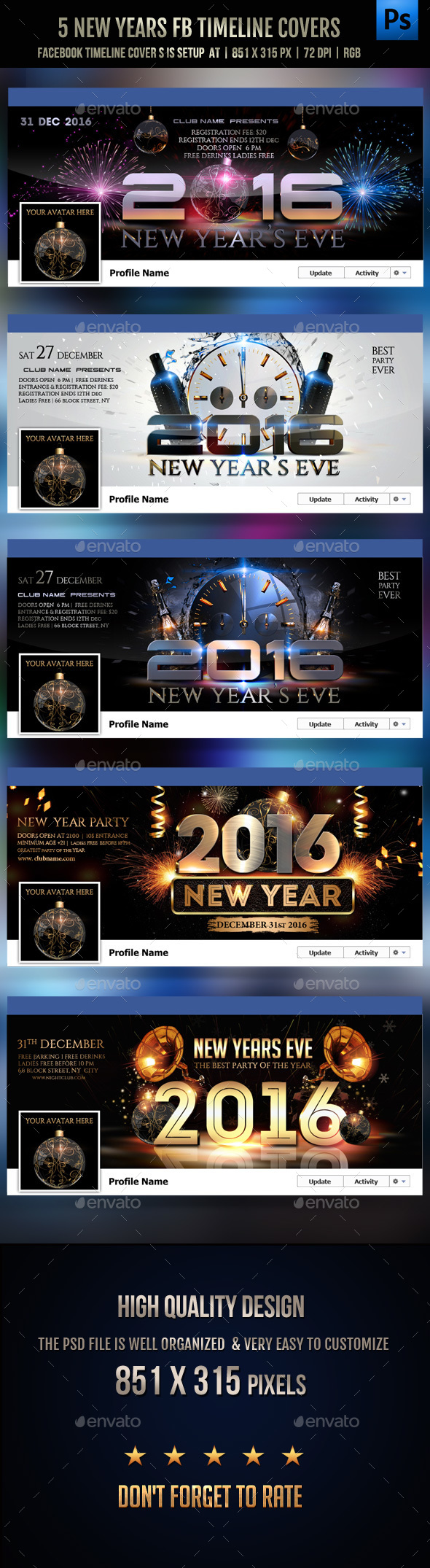 5 New Years Facebook Covers - Facebook Timeline Covers Social Media