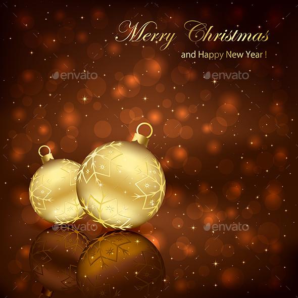 Two Christmas Balls - Christmas Seasons/Holidays