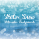 Winter Snow Watercolor Backgrounds - GraphicRiver Item for Sale