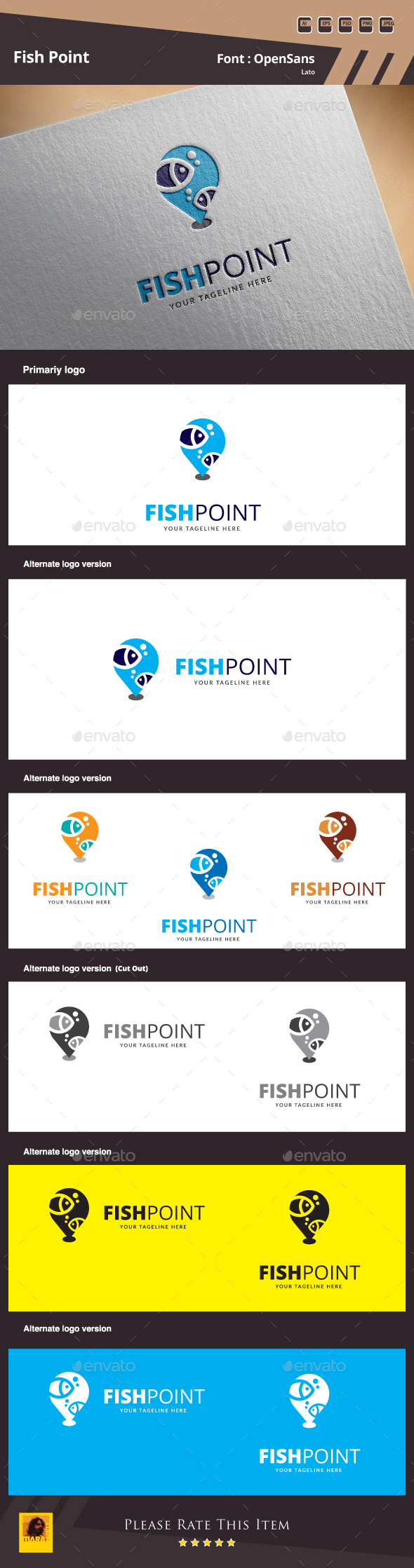 Fish Point Logo - Animals Logo Templates