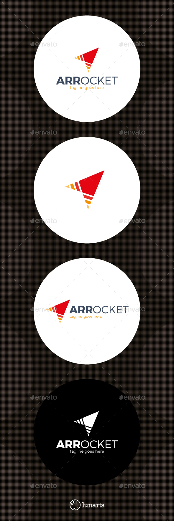 Arrow Rocket Logo - Symbols Logo Templates