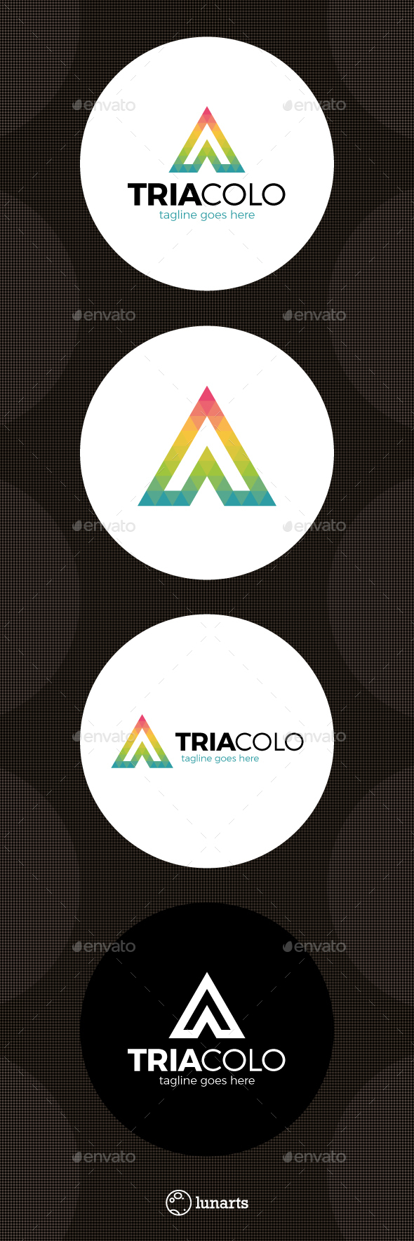 Color Triangle Polygon Logo - Letter A - Letters Logo Templates