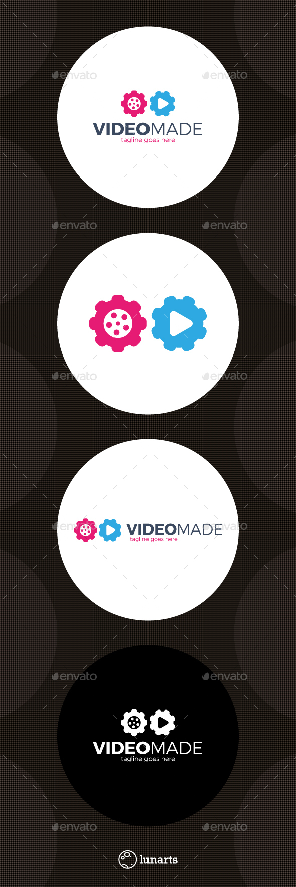 Video Gear Logo - Made Movie - Symbols Logo Templates
